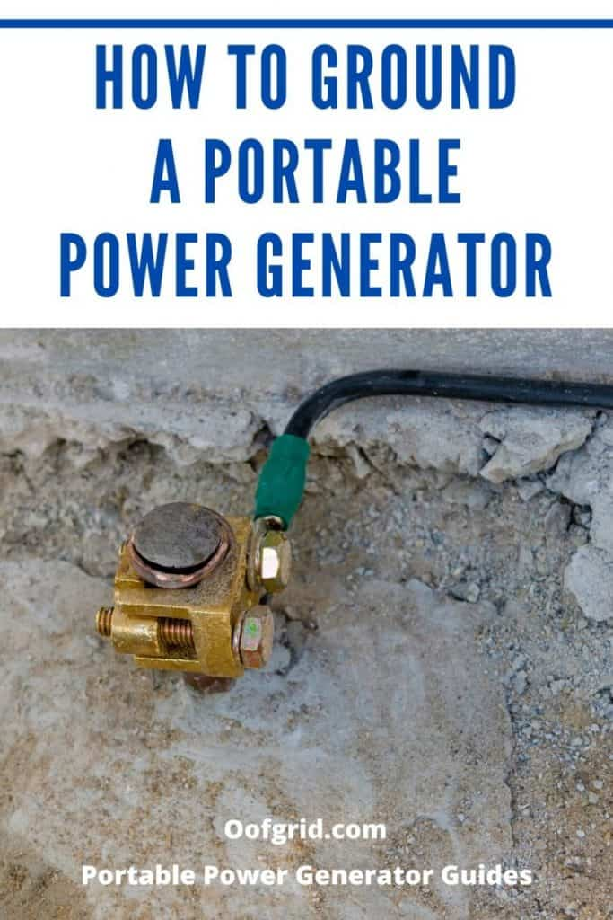 how to ground a portable power generator