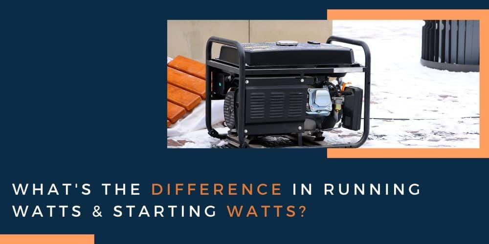 running watts & starting watts?