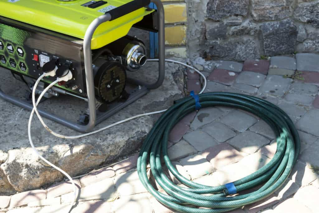 generator connected to a home