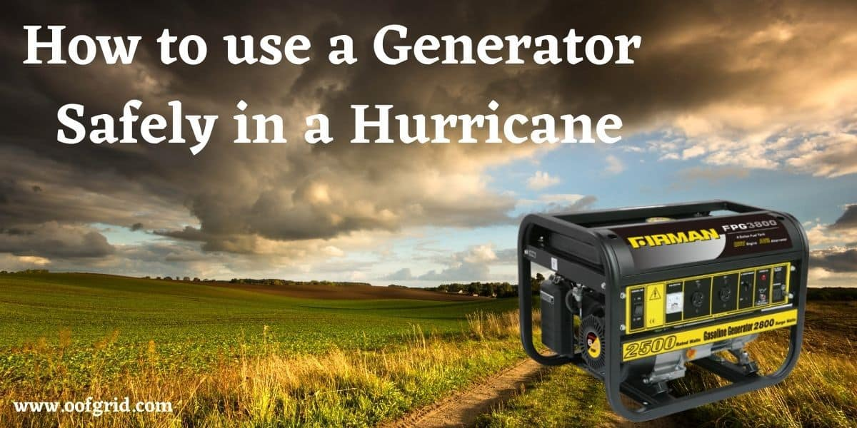 generator in a hurricane